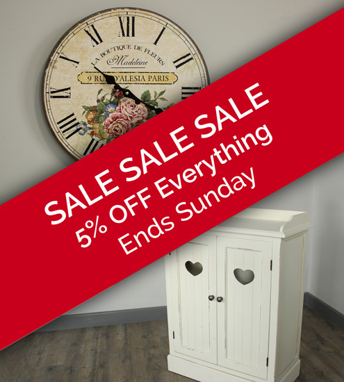 SALE SALE SALE 5% OFF Everything Ends Sunday