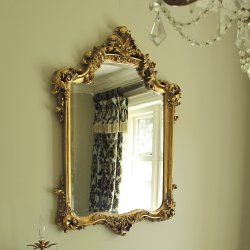 Large ornate gold wall mirror melody maison for Big gold mirror