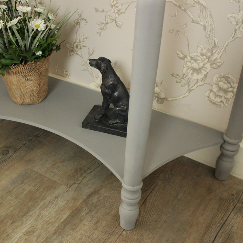 Admiral Range - Half Moon Console Table with Drawer and Shelf