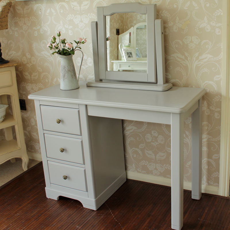 Amelia grey range dressing table and swing mirror for Range dressing table