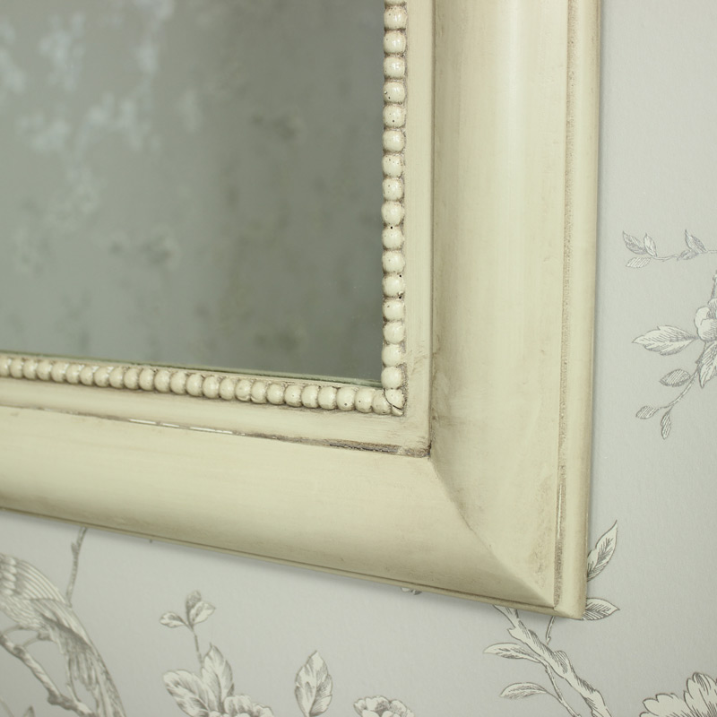 Antique Cream Curved Wall Mirror - Melody Maisonu00ae