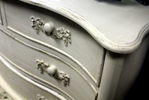 antique white Ivory chest of drawers vintage chic french shabby bedroom furniture dining
