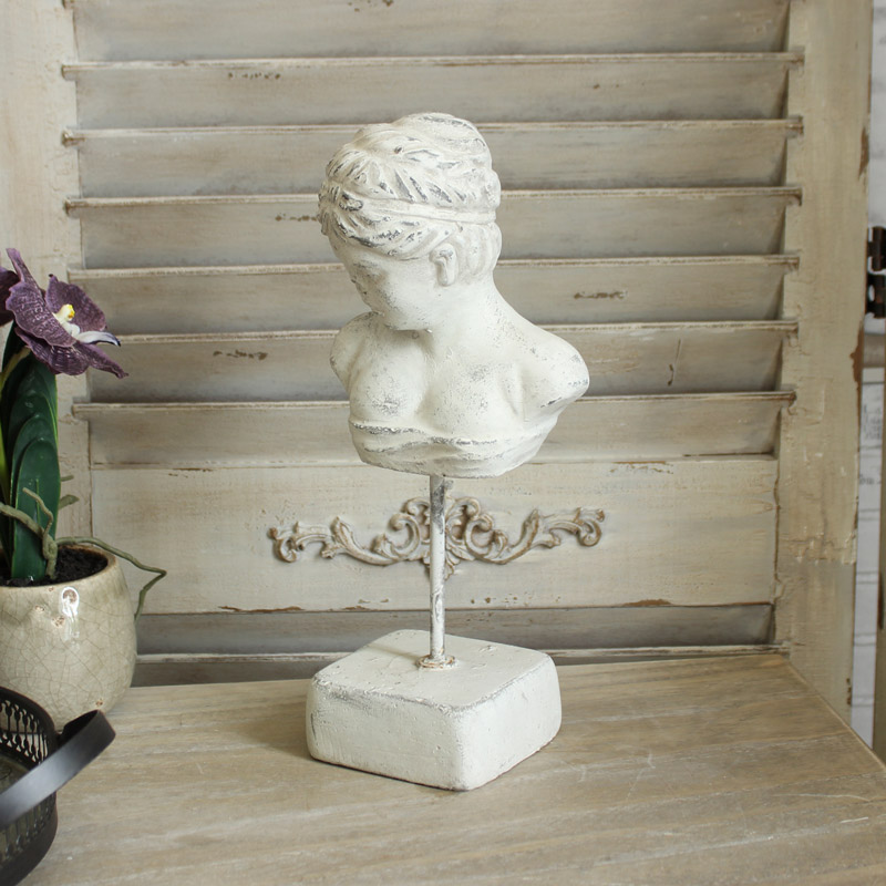 Antique White Greek Style Bust