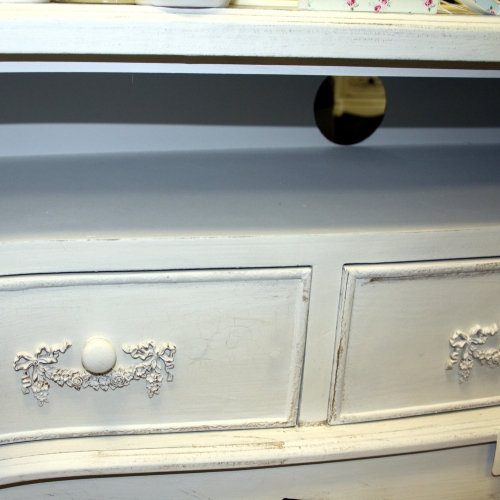TV cabinet antique white shabby cupboard chic Television stand lounge dvd  lounge living - Antique White - Antique White Tv Cabinet Antique Furniture