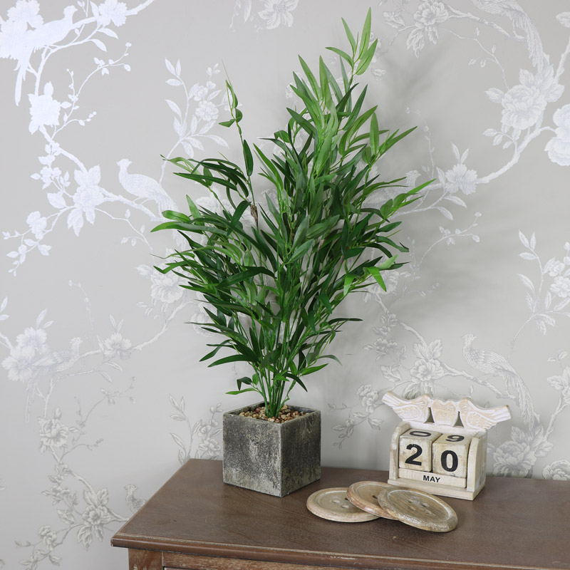 Artificial Bamboo Bush in Square Pot