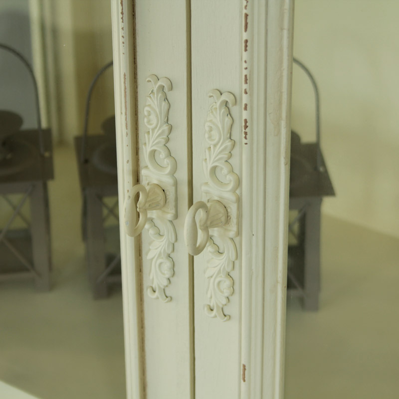 Belfort Range - Cream Glazed Display Cabinet