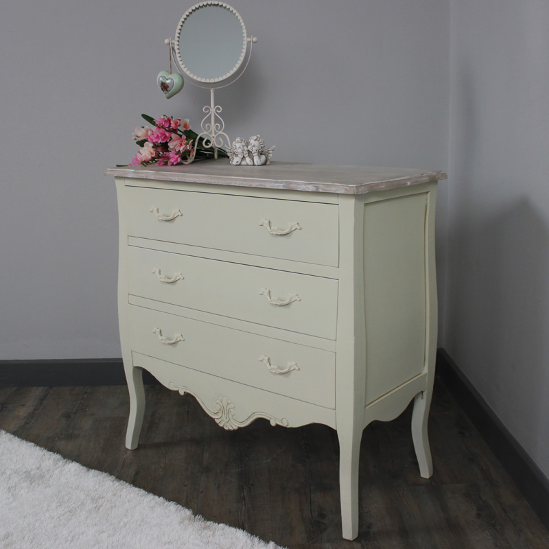 Belfort Range - Furniture Bundle, Cream Chest of Drawers, Dressing Table, Mirror, Stool and 2 Bedside Cabinets