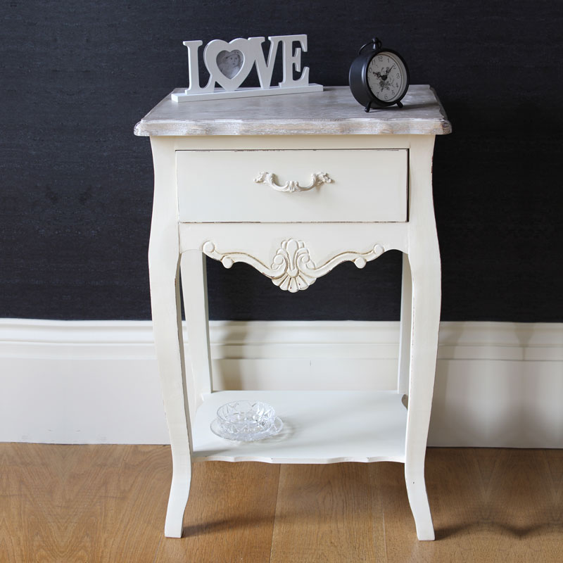 Cream wooden bedroom set dressing table mirror stool for 90cm dressing table