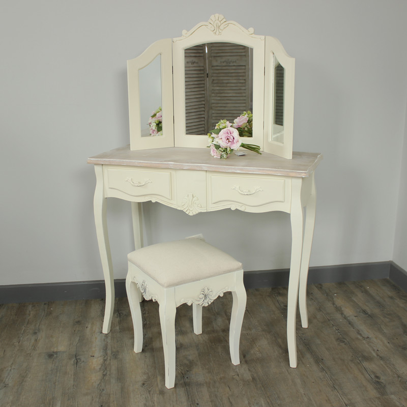 Belfort Range - Furniture Bundle, Dressing table, Triple Mirror, Stool, Chest of Drawers and Pair of Bedsides