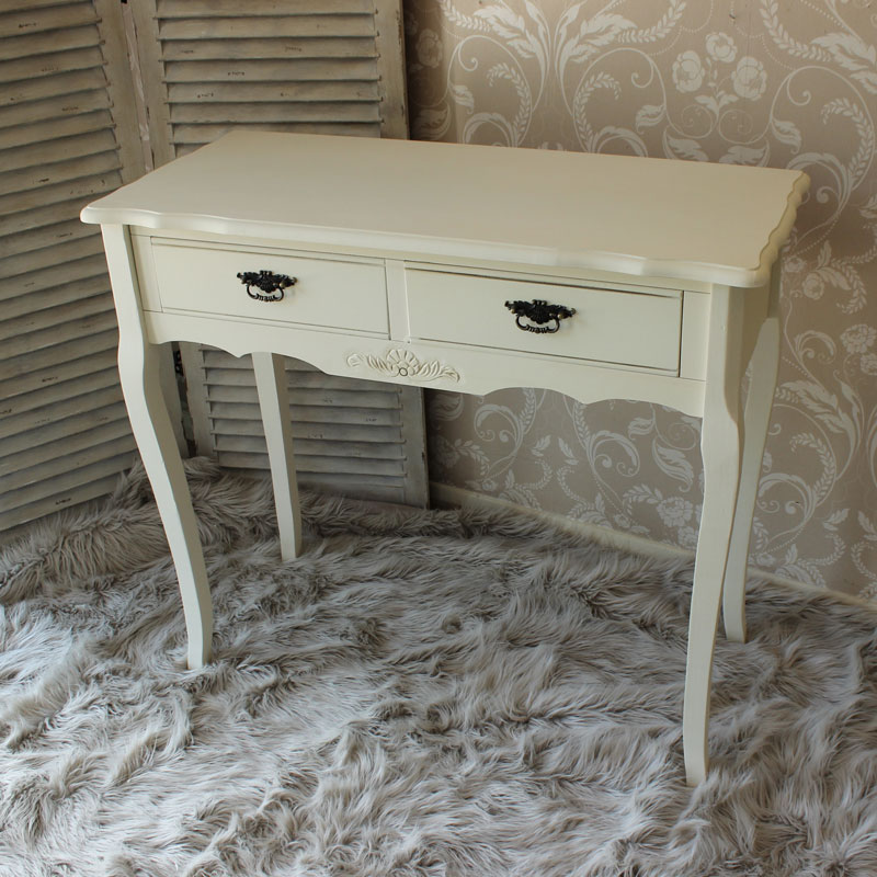 Belgravia Range - Cream 2 Drawer Console Table