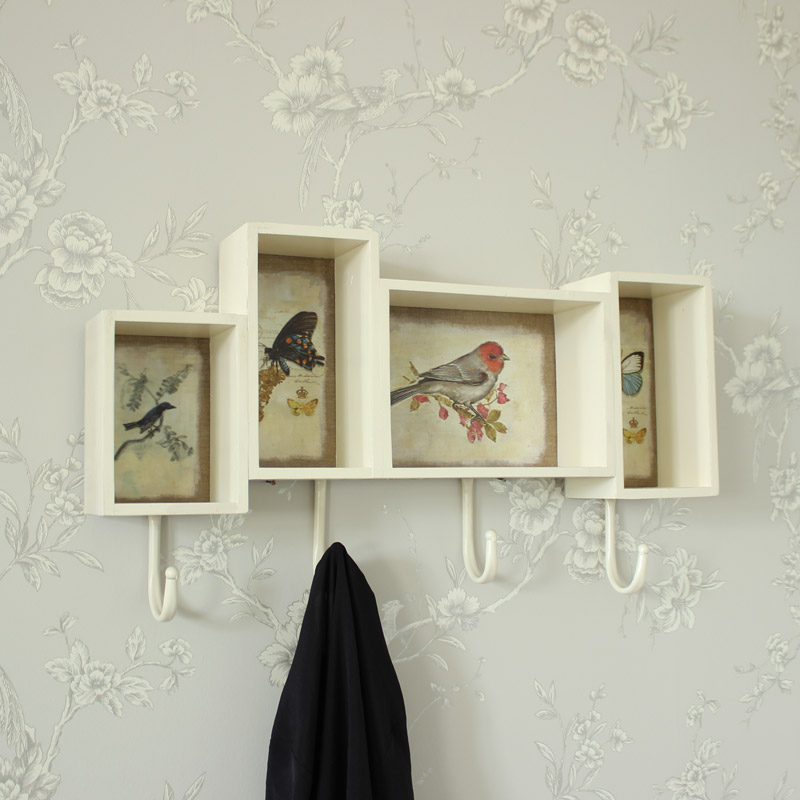 Birds and Butterfly Shelf Unit with hooks