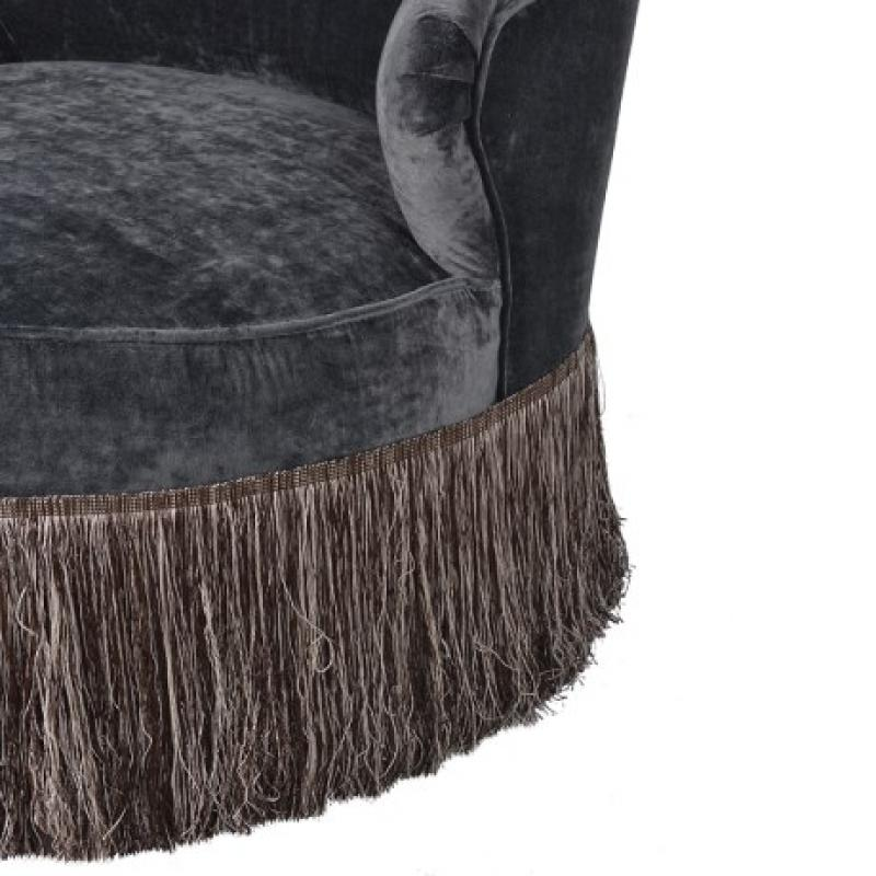 Black Crushed Velvet Occasional Chair