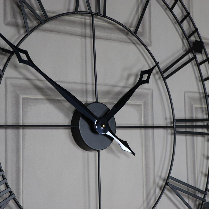 Black Iron Skeleton Wall Clock