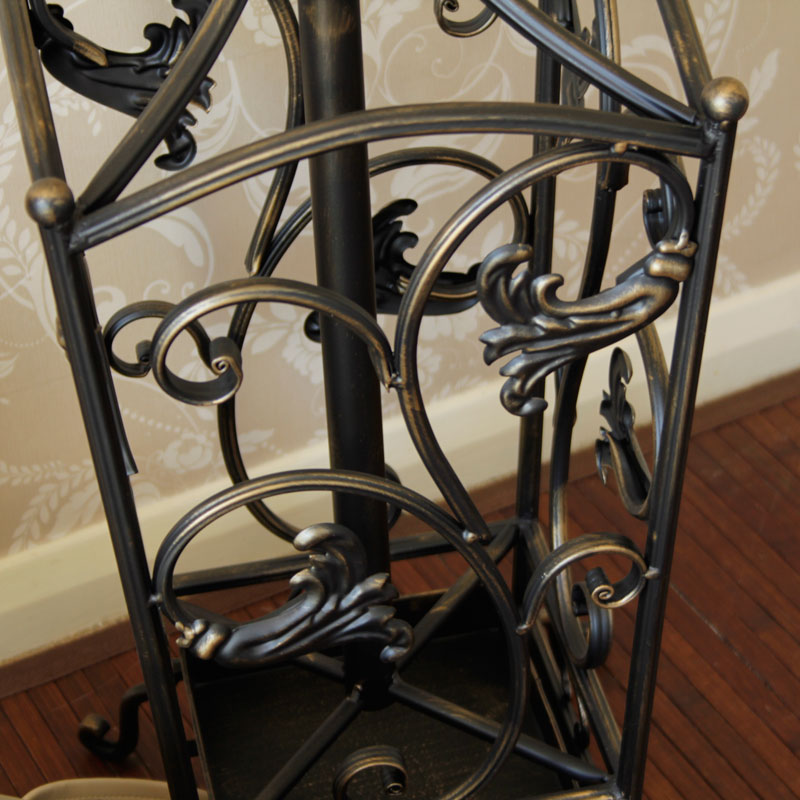 Black Rustic Coat and Hat Stand