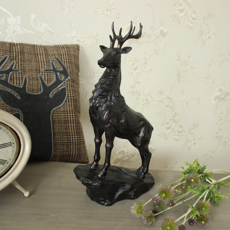 Black Standing Stag Ornament