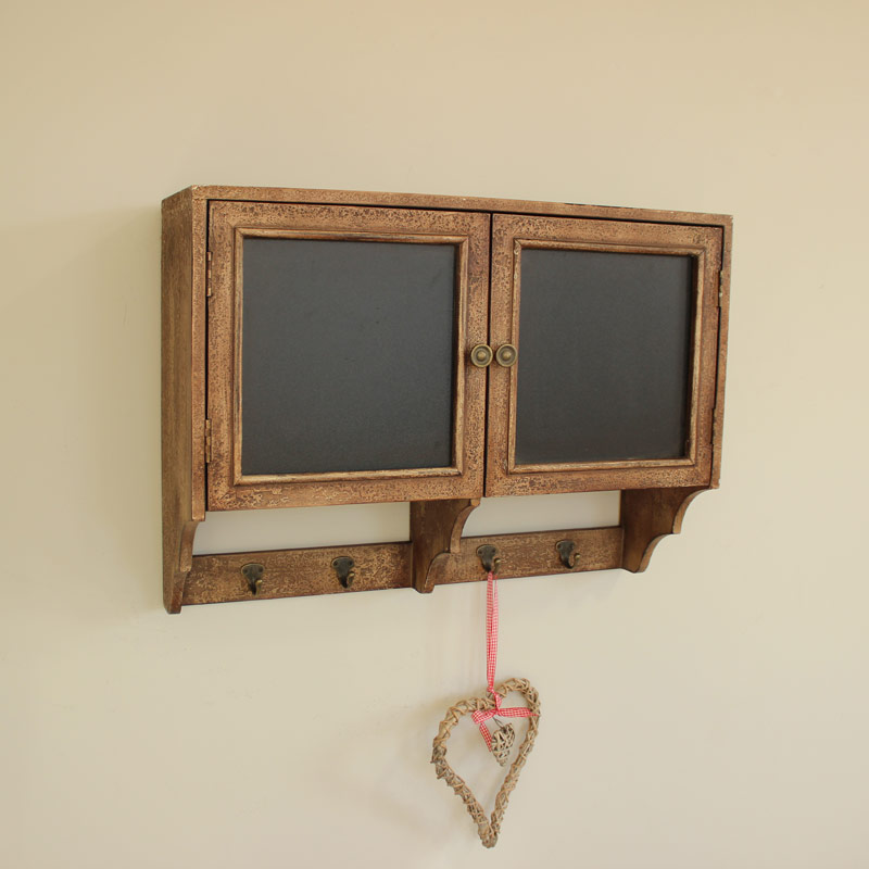 Blackboard Wall Cupboard with Hooks