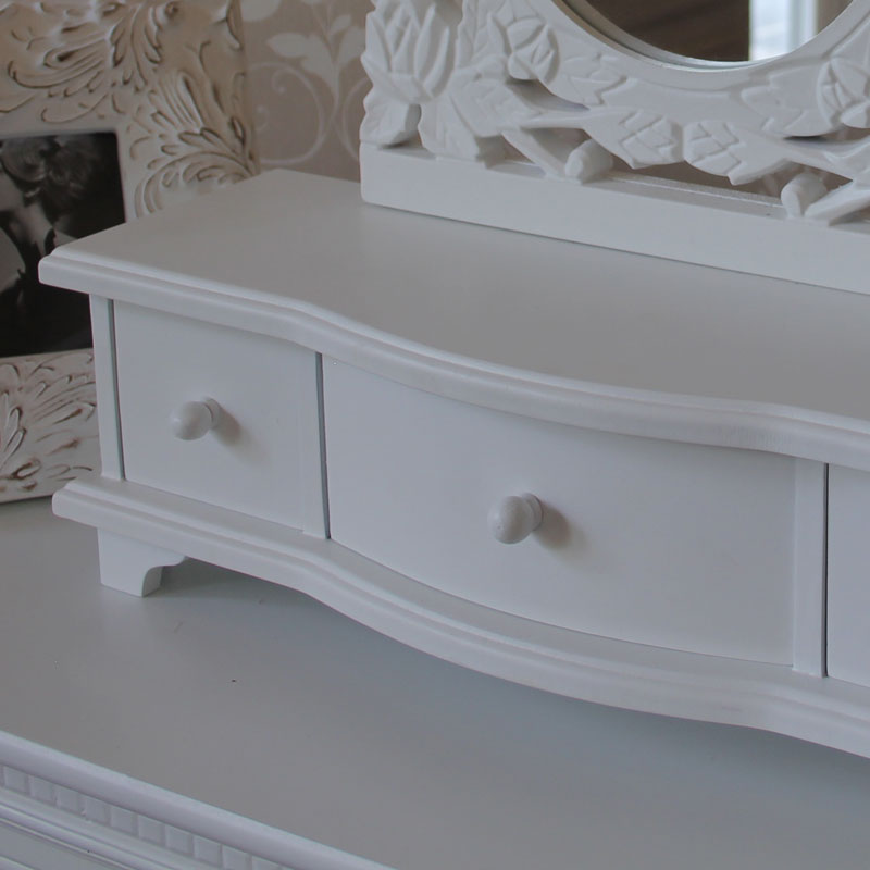 white dressing table mirror with drawers melody maison. Black Bedroom Furniture Sets. Home Design Ideas