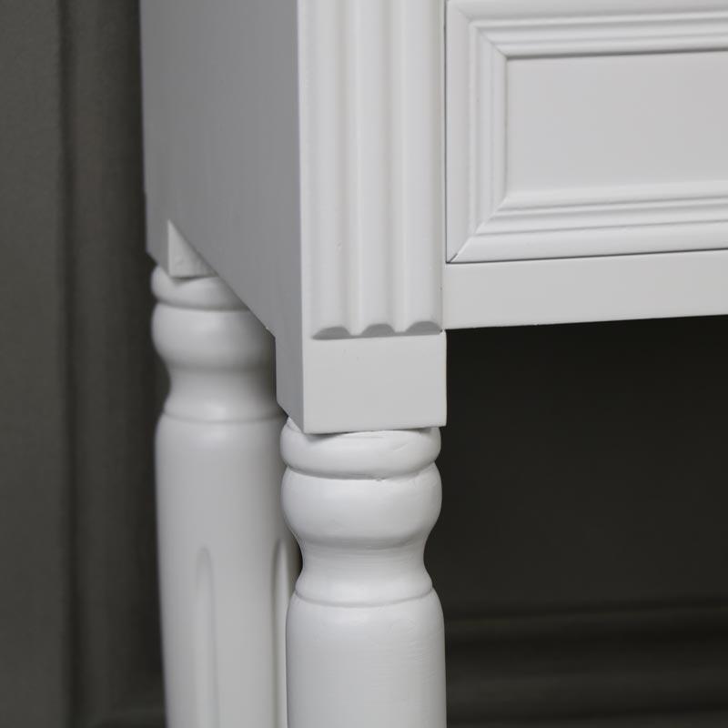 White 2 Drawer Bedside Table - Blanche Range