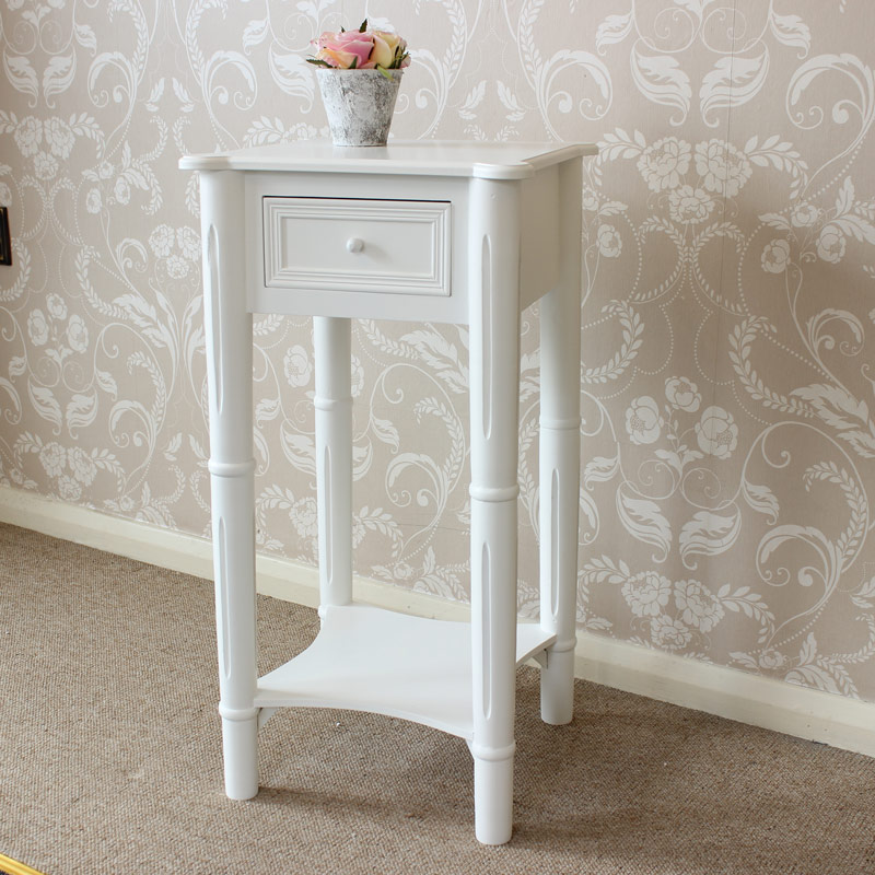 Blanche Range - White Bedside Table
