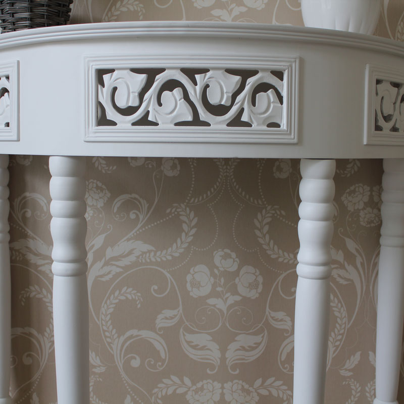 Fleur blanche white console table melody maison - Table console blanche ...