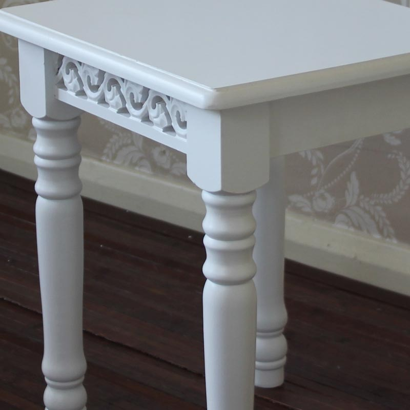 Blanche Range - White Dressing Table Stool
