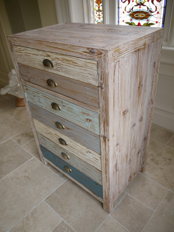 Blue One Drawer Storage Cupboard