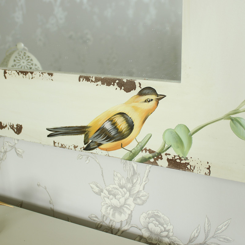 Botanical Range - Cream Floral & Bird Wall Mirror