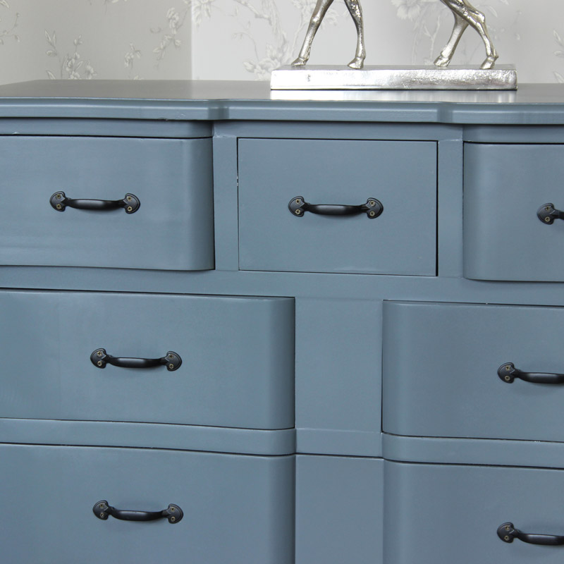 Boudoir Grey Range - Five Drawer Chest of Drawers
