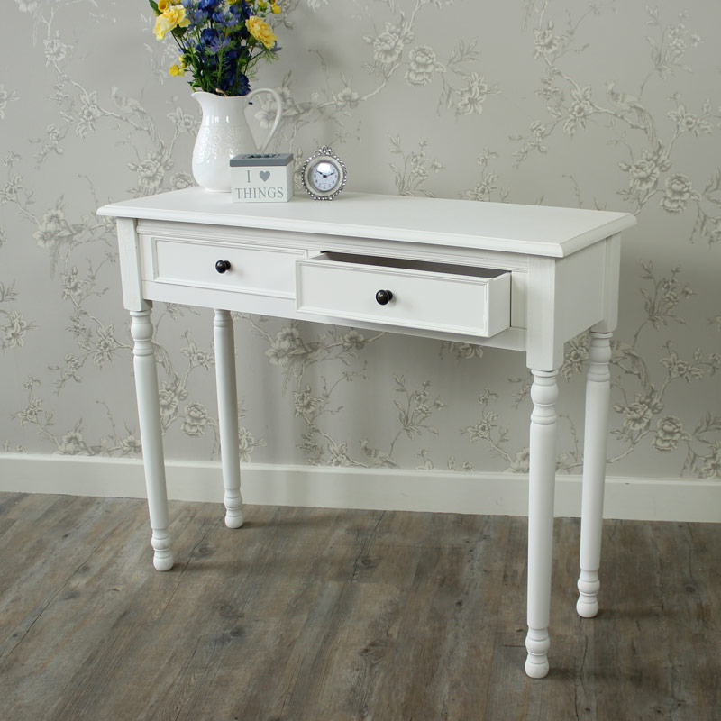In legno bianco toletta consolle shabby chic vintage for Consolle shabby ebay
