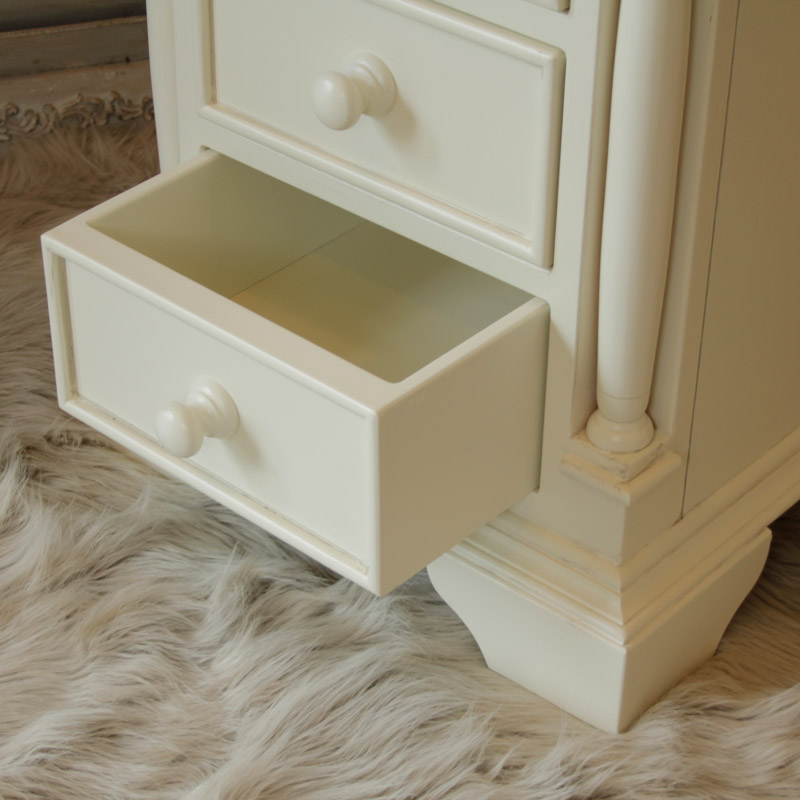 Canterbury Range - Cream 3 Drawer Bedside Cabinet
