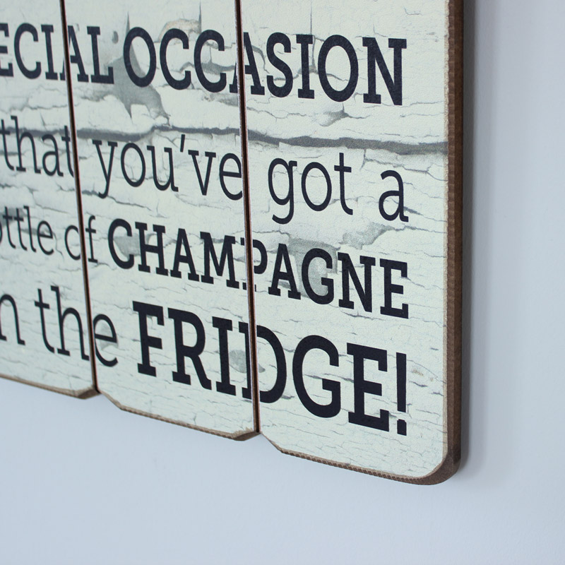 Champagne Wall Plaque
