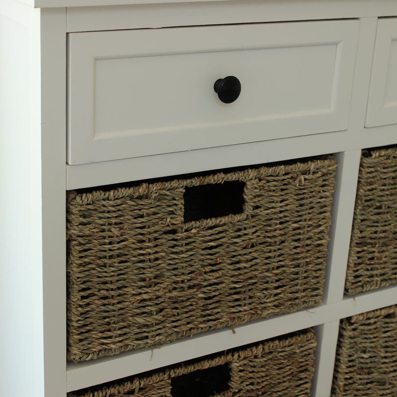 Wonderful Details About White Storage Unit Bench With 3 Baskets Bathroom Hallway