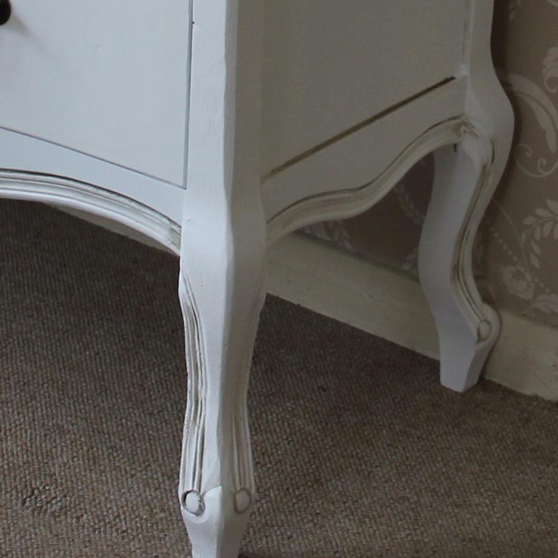 classic white 6 drawer chest of drawers