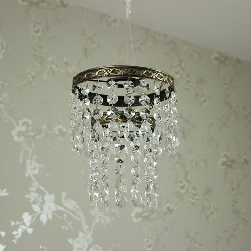Clear Glass Beaded Chandelier