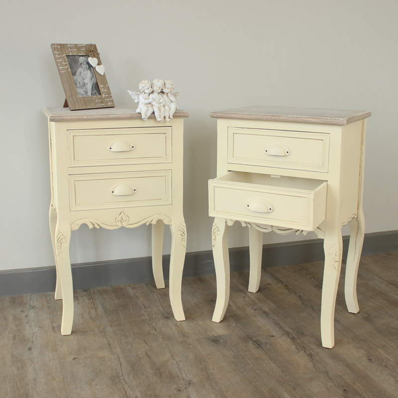 Country Ash Range - Furniture Bundle, Pair of 2 Drawer Bedside Table