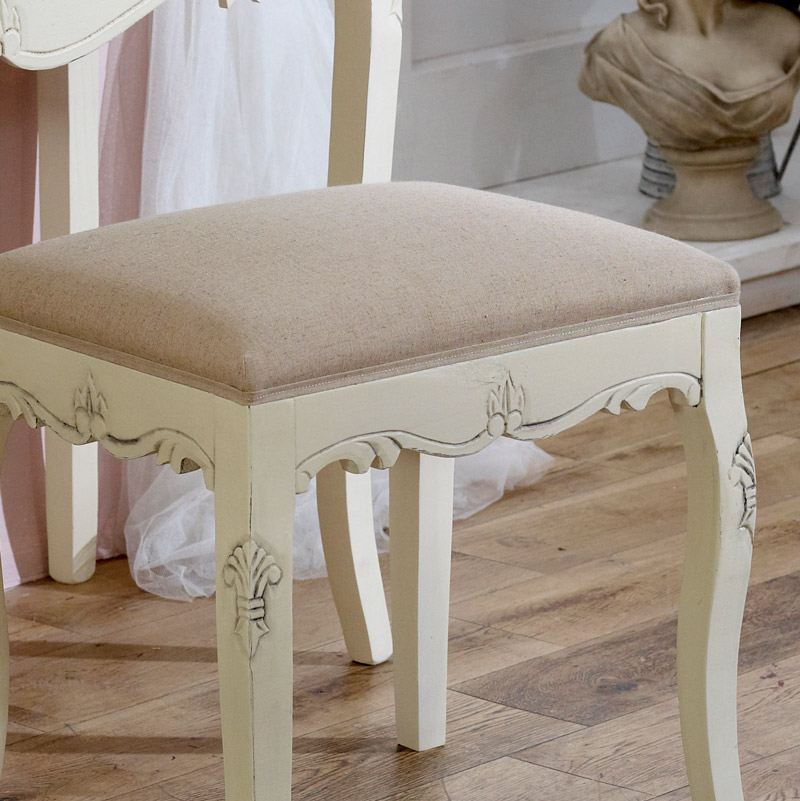 Country Ash Range - Padded Dressing Table Stool