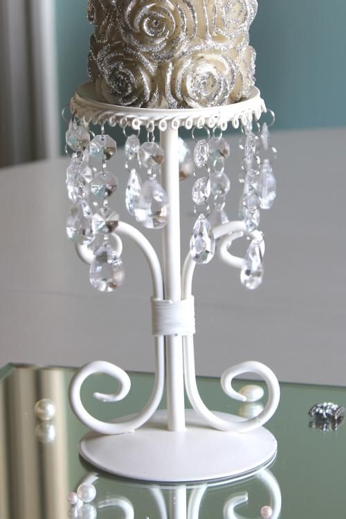cream candle holder stick
