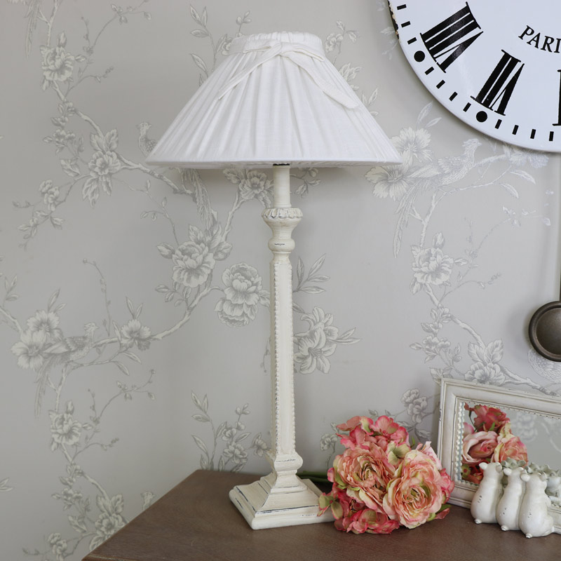 Cream french style table lamp melody maison cream french style table lamp mozeypictures Choice Image