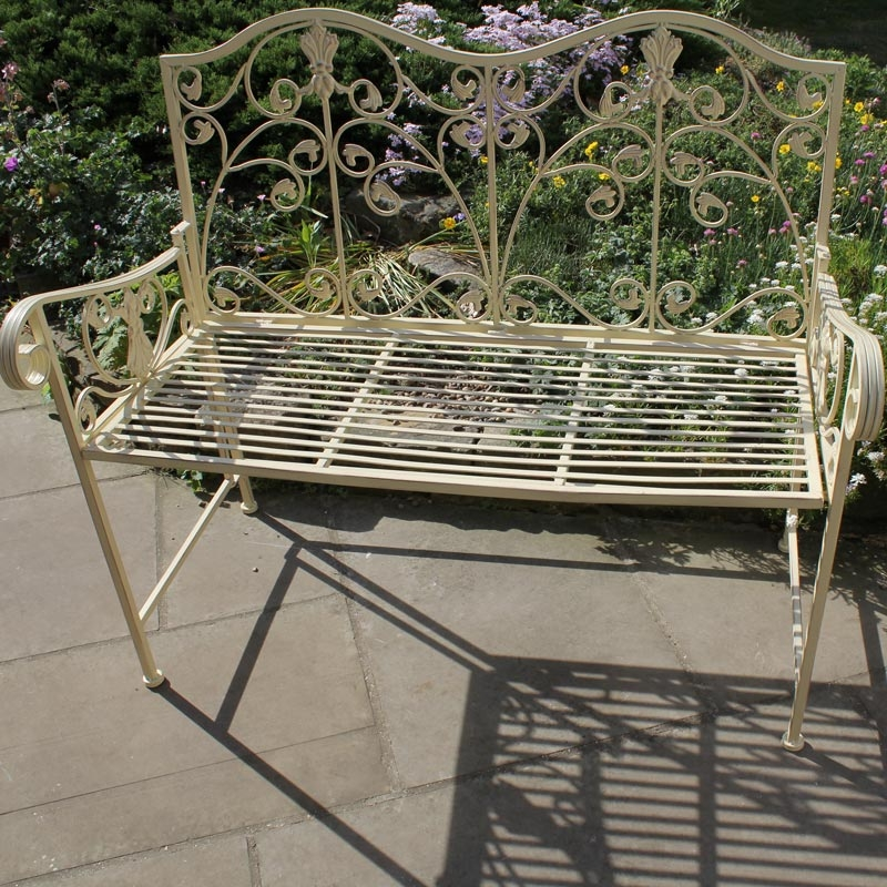 Cream Garden Bench Melody Maison