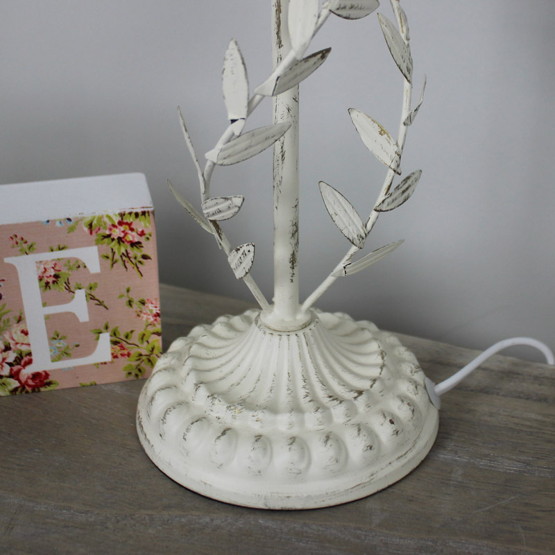 Cream Metal Leaf Lamp