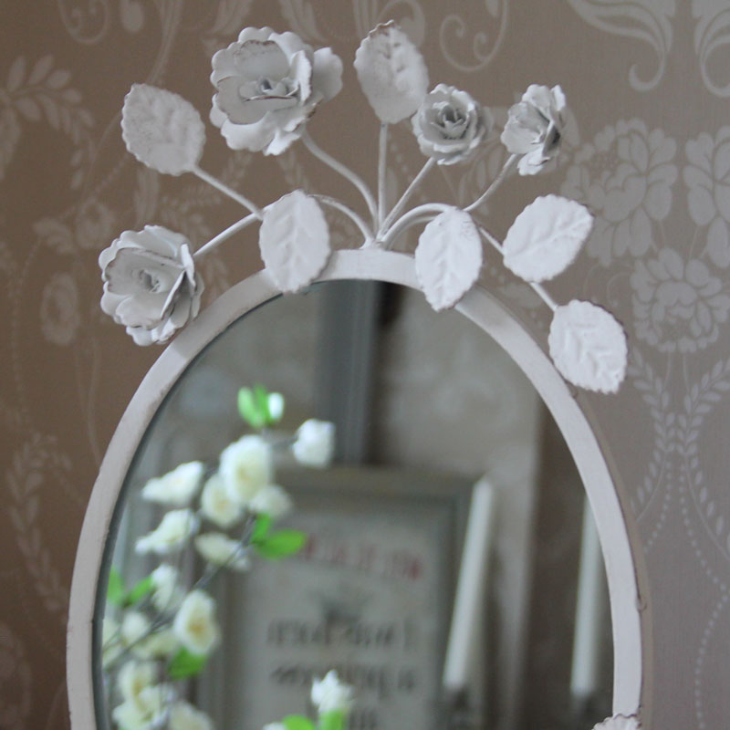 Cream Oval Rose Mirror Melody Maison 174