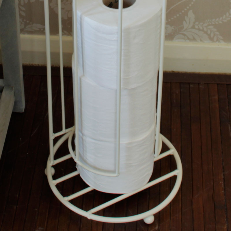Cream Toilet Roll Storage Holder