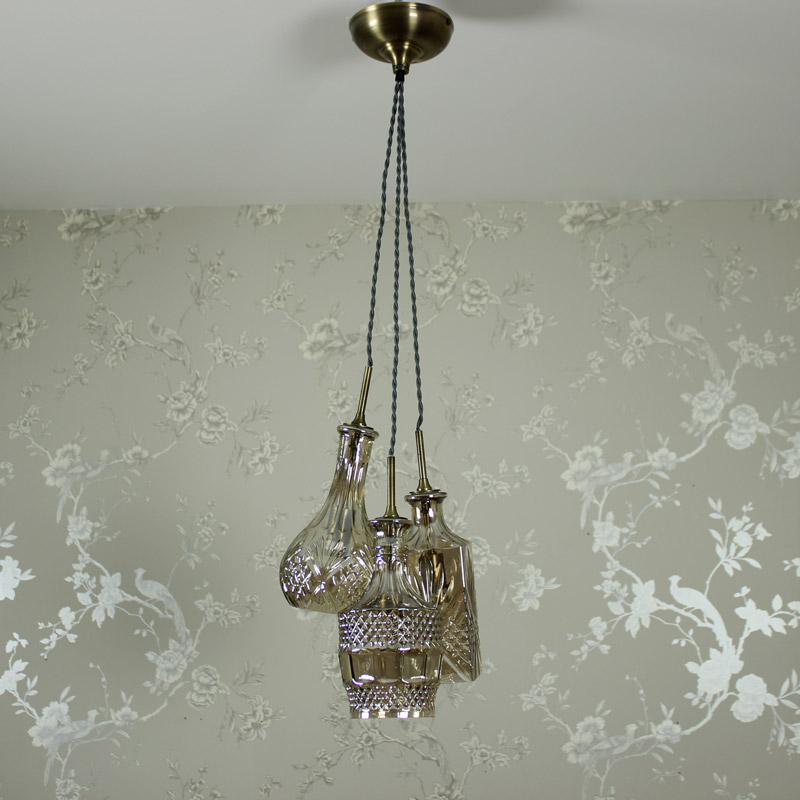 Cut Glass Decanter Pendant Light