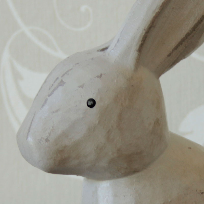 Distressed Wooden Rabbit Ornament