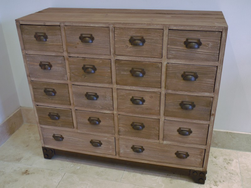 Dorset Range - Natural Wood 18 Drawer Chest