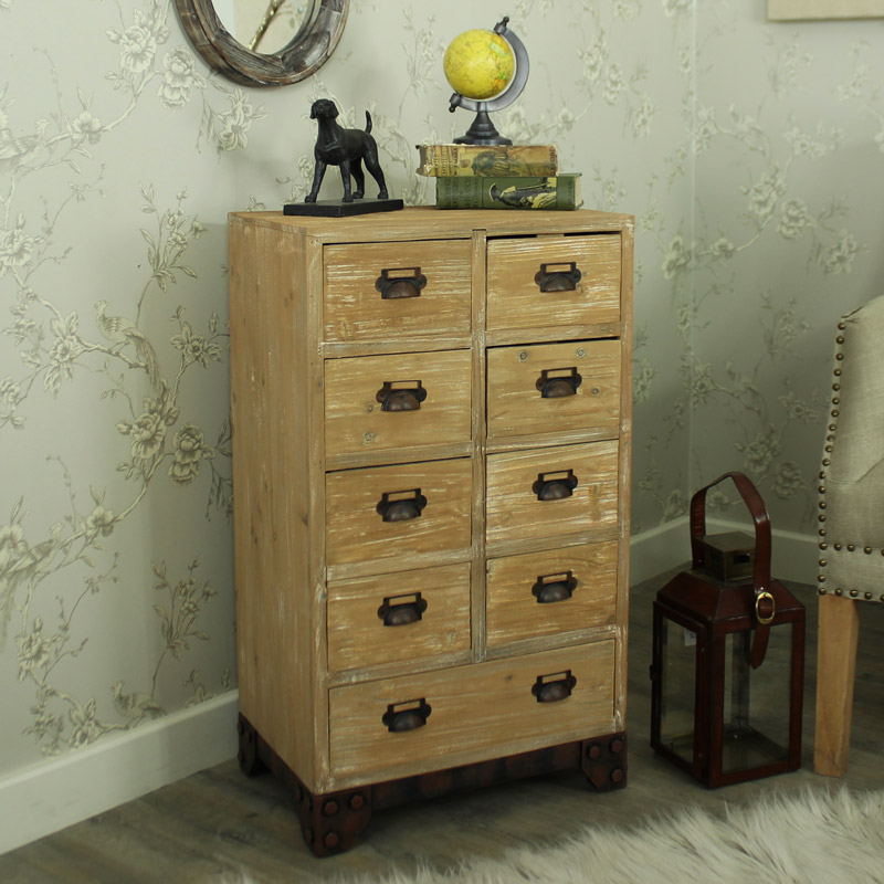 Dorset Range - Natural Wood 9 Drawer Chest