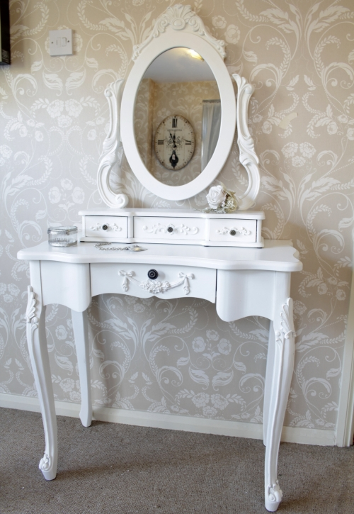 Shabby chic furniture french style home accessories for White dressing table