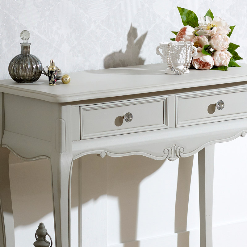Elise Grey Range - 2 Drawer Console Table