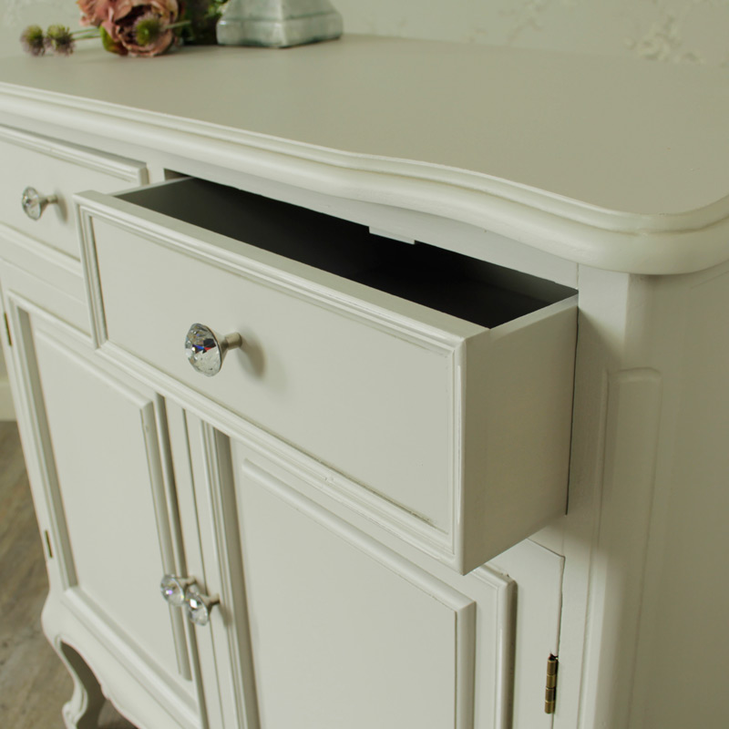 Elise Grey Range- 2 Drawer Sideboard With Cupboards