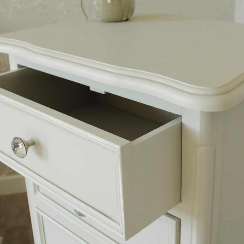 Elise Grey Range - 5 Drawer Tall Boy Chest